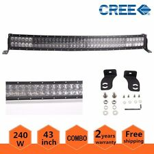 "43"" 240W CREE LED Curved Light Bar Combo 4D Lens Offroad SUV Truck Fog Driving"