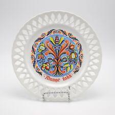 Berggren Scandinavian Folk Art - Mange Takk - plate - Many Thanks - Rosemaling