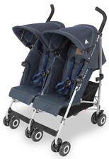 Maclaren Twin Triumph Lightweight Baby Double Stroller Denim Indigo NEW