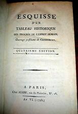 1799 Condorcet - Progres de l'Esprit Humain, Idea of Progress, Enlightenment