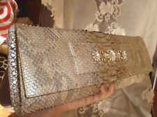 $2K APE REGINA, NANCY GONZALEZ DESIGNER REAL PYTHON SNAKESKIN JEWELED CLUTCH BAG