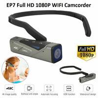 Ordro EP7 Upgrade Head Wear Mini Camcorder HD 1080P 4K WIFI Video Digital Camera