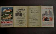 Carta Automobilistica Dolomiti Trentino Tirolo Zanoni Ferrovie 1931