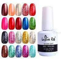 Soak Off Glitter Polish Gel UV LED Lamp Nail Art Tips 120Color 15ml NLR61-80