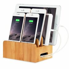 Tablet Cellphone Organizer Stand Holder Docking Station Wood Samsung Apple Acer
