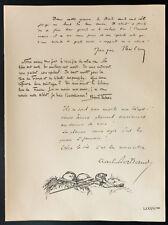 1926 - Lithographie Citations Jacques Péricard, Binet-Valmer, Charles Bertrand