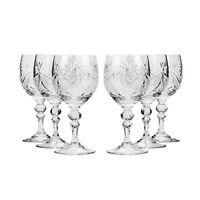 Set of 6 Neman Glassworks, 8.8-Oz Hand Made Vintage Russian Crystal Wine Glasses