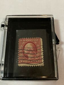 George Washington Two Cent USPS Stamp Used Rare Deep Red 2 Cents