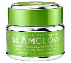 GLAMGLOW Powermud Dualcleanse Treatment 50 g/1.7oz, NEW, No Box, Sealed Jar