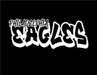 Philadelphia Eagles Graffiti Custom Vinyl Decal Sticker for Car Laptop Window