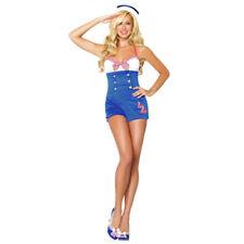 Sexy  Pin Up High Seas Honey Sailor Women's Adult Halloween Costume NEW SZ W MED
