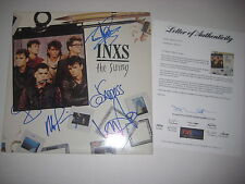 INXS Signed THE SWING Album w/ PSA LOA - MICHAEL HUTCHENCE +5 Members