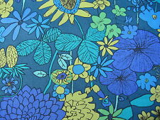 SCILLY FLORA in BLUES 1.00 METRE by LIBERTY on TANA LAWN COTTON