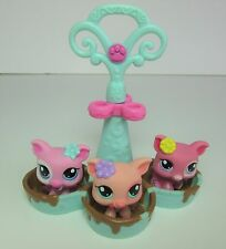 LITTLEST PET SHOP Nº 1548 1549 1550 petriplets Muddy Rose Porcelet Porc Set Bain de boue