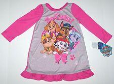 Paw Patrol Nightgown Pajamas Sleepwear Nickelodeon Dogs Pink Toddler Girl New