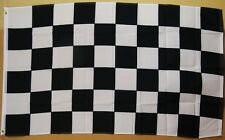 Black And White Checkered Flag 3' X 5' Deluxe Indoor Outdoor Banner