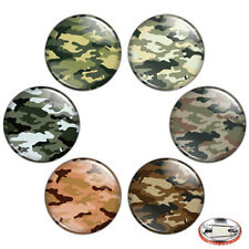 "Camouflage 1.25"" Pinback Button BADGE SET Novelty Pins Military Mini Gift Camo"