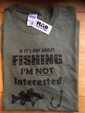 Size L, Funny Fishing T-Shirt By Mad Tees & Tops