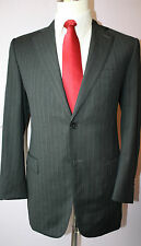 Ermenegildo Zegna Gray Striped Two Button Side Vented Wool Suit 38 R 33 32 Pants