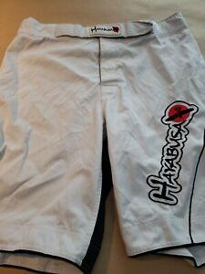 Hayabusa Men's Kickboxing MMA Fightwear White Shorts Size 36