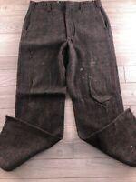 Woolrich Men's Dress Pants Gray Size 36 Plaid Wool Blend Vintage