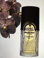 VINTAGE old formula HABIT ROUGE PERFUMED Deodorant GUERLAIN 25 ml left men spray