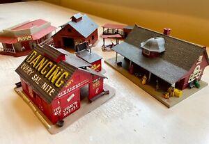 Vintage Revell Lot: Community Playhouse, Horse Barn, Revell Town station, Bank +