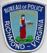 US Capital City HAUPTSTADT  VIRGINIA Richmond Polizei Abzeichen Police Patch USA