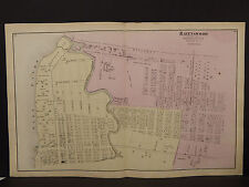 New York Long Island Map 1873 Ravenswood, Queens County, Double Page N3#76