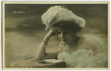 c 1906 French Music Hall Cabaret PRETTY DE NAVAL theater photo postcard