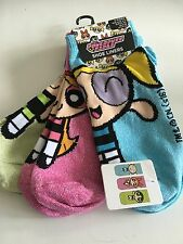 Power puff Girls Ladies Blossom Trainer Socks 4 5 6 7 8 Shoe Liner 3 Pack