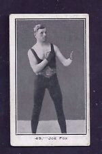 1923 Burnstein Isaacs Cigarettes #49 Joe Fox Famous Prize Fighters VG-EX + to EX