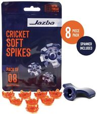 Jazba Soft Spikes Replacement for Cricket Cleats with Spanner 8 pieces Tpu Studs