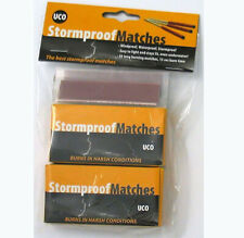 Outdoor Survival Matches UCO Stormproof Twin Pack 50 Matches Black