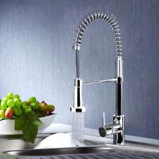 Monobloc Chrome Brass Kitchen Sink Pull Out Spray Robinet Mitigeur UK