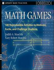 Math Games: 180 Reproducible Activities to Motivate, Excite, and Challenge Stud