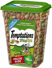 NEW TEMPTATIONS CATNIP FEVER 16 OZ CRUNCHY OUTSIDE SOFT INSIDE TREATS FOR CATS