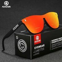 Kdeam Men Women TR90 Polarized Sunglasses Outdoor Sport Frameless Glasses New