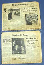2x Vintage The Charlotte Observer Newspaper April 24 & 28 1958 Sections B & D