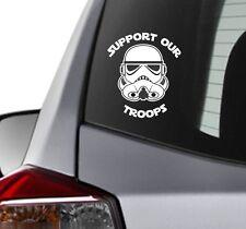 Support Our Troops Star Wars Stormtrooper helmet Vinyl Decal window Laptop Apple