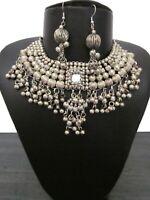 Necklace Earring Vintage Retro Gypsy Kuchi Boho Fashion Jewelry