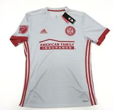NWT Adidas MLS Atlanta United FC Grey Soccer Jersey Adult Men's Size Small