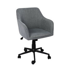 Levede Office Chair Fabric Computer Gaming Chairs Executive Adjustable Seat Grey