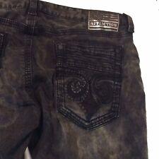 Affliction GAGE Fleur Matador Black Distressed Jeans 110SK072 Sz 40 X 33 $135