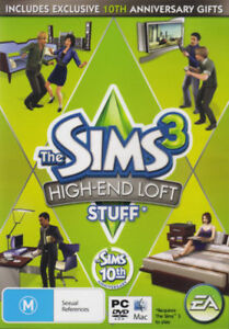 The Sims 3 High End Loft Stuff Expansion PC Game AU version Factory Sealed