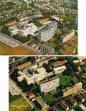 2 Karten aus Wels Krankenhaus, Luftaufnahmen, Oberösterreich  (B15)