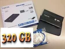 "320 GB USB3.0 externe Festplatte, ALU-Gehäuse, 2,5"", schwarz"