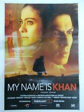 MY NAME IS KHAN 2010 SHAH RUKH KHAN KAJOL Rare Poster Bollywood Film India