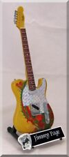 Jimmy Page Miniature Guitar Telecaster Dragon Led Zeppelin w/ Guitar Pick