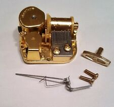 """Sankyo 18 Note Music Box Movement With Reuge Wire Stopper-""""Lullaby 4; - Bhrams"""